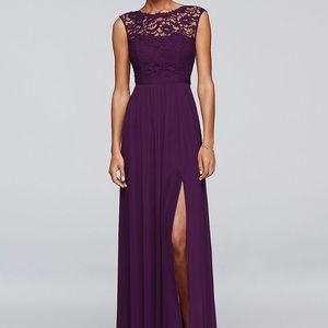 David's Bridal - Plum Bridesmaid Dress